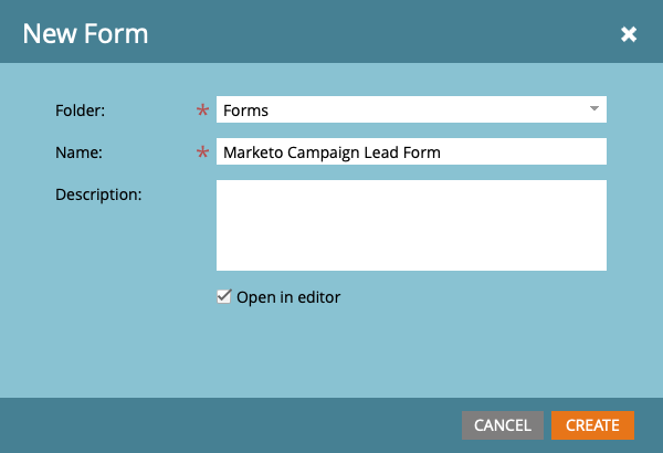 marketo new form